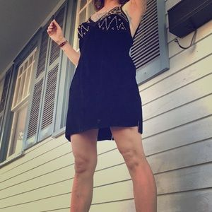 Amazing vintage suede punk rock minidress